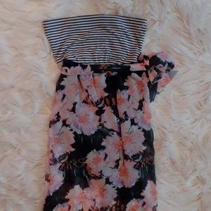 (Mossimo Supply Co.) Floral + Striped Max Dress